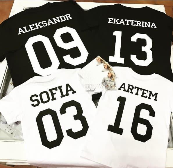 В 21 веке актуальны именные футболки с надписями